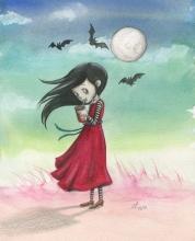 Kunstdruck: Vampirmädchen - Aquarell, Illustration (14 € ungerahmt, 22 € gerahmt - beides inkl. Versand)
