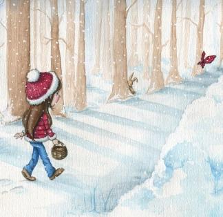 """Verkauft: Illustration für das Buch """"Ella und das Geheimnis der Eisschmetterlinge"""""""