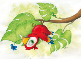 Verkauft: Aquarellillustration im A3-Format für ein Kinderzimmer
